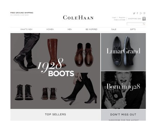 یک نمونه از یک طراحی وبسایت خوب در طراحی وب سایت تجارت الکترونیک