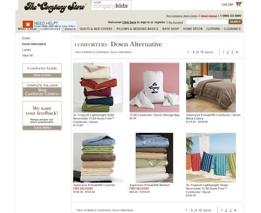 نمونه وبسایت با تصاویر کوچک یا thumbnails در طراحی وب سایت تجارت الکترونیک