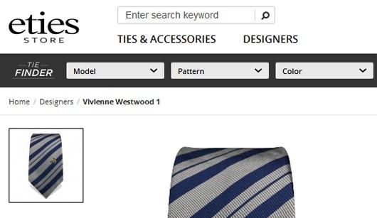 یک نمونه وبسایت برای شما اینجا هستید یا breadcrumbs در طراحی وب سایت تجارت الکترونیک