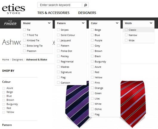 نمونه وبسایت دارای جستوجوی پیشرفته در طراحی وب سایت تجارت الکترونیک